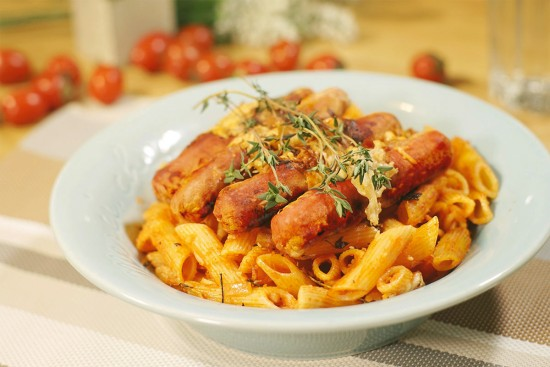 Spicy Penne Bake with Chicken Franks | Sadia Singapore