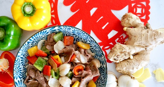 Stir-fried Beef With Fresh Lily Bulbs And Capsicum | Sadia Singapore